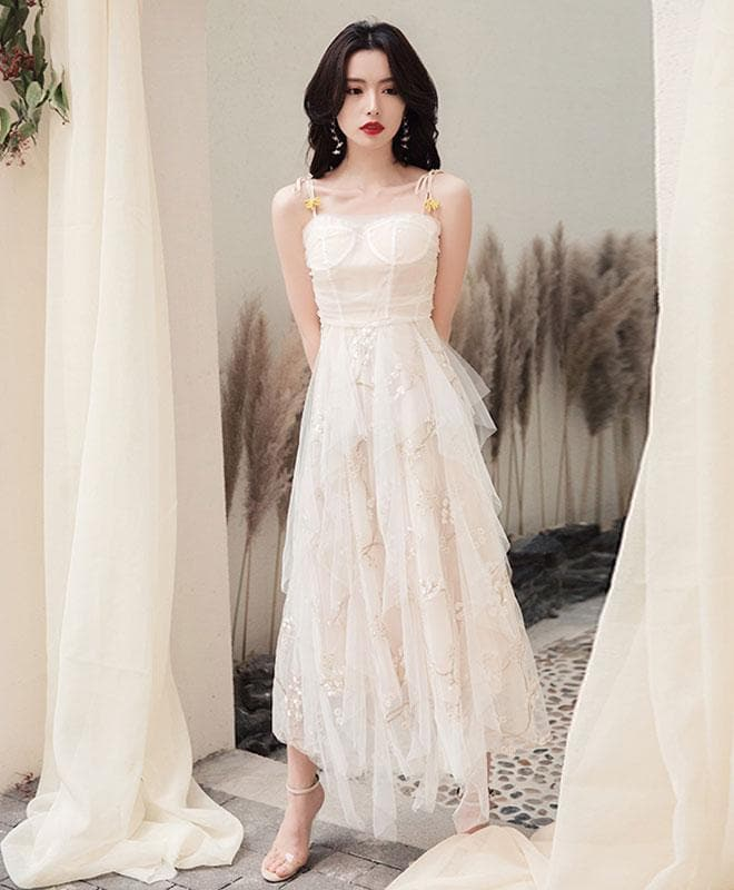 Simple Sweetheart Tulle Prom Dress, Tulle Evening Dress - DelaFur Wholesale
