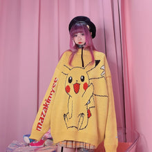 Load image into Gallery viewer, Yellow/Pink/Blue Kawaii Cartoon Sweater SP14492 - SpreePicky FreeShipping