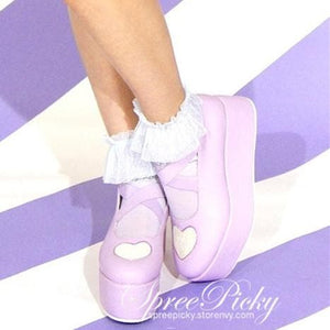 J-Fashion Harajuku Lolita Comfortable Low-cut Platform Shoes SP130167 - SpreePicky  - 1