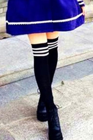 8 Colors Stripes Thigh High Over Knee Socks SP153576 - SpreePicky  - 3