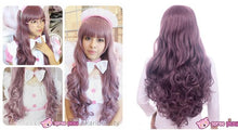 Load image into Gallery viewer, Harajuku Lolita Cosplay Dark Purple Curly Long Wig 27INCH SP130005 - SpreePicky  - 2