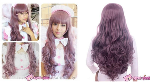 Harajuku Lolita Cosplay Dark Purple Curly Long Wig 27INCH SP130005 - SpreePicky  - 2