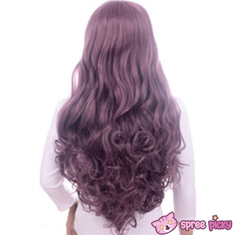 Harajuku Lolita Cosplay Dark Purple Curly Long Wig 27INCH SP130005 - SpreePicky  - 5