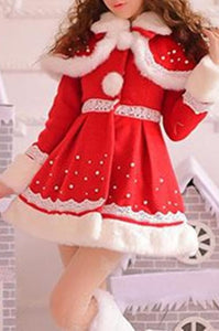 S/M/L Happy Holiday Woolen Cape Coat SP153427 - SpreePicky  - 3