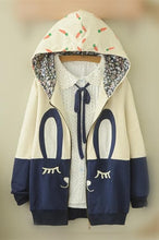 Load image into Gallery viewer, White/Beige Cutie Bunny Long Sleeve Jacket Coat SP153473 - SpreePicky  - 2
