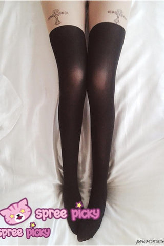[3 for 2] Gothic Cross Fake Over Knee Thigh High Tights SP140914 - SpreePicky  - 3