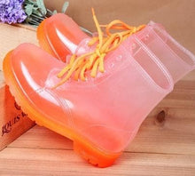 Load image into Gallery viewer, 6 Colors Jelly Transparent Rain Boots SP1710414