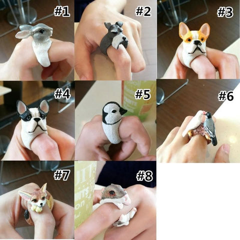8 Styles of Lovely Animals Ring SP178806