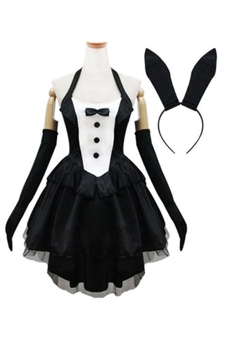 Black Gorgeous Forked Tail Bunny Dress Cosplay Costume SP153688 - SpreePicky  - 3