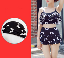 Load image into Gallery viewer, Kawaii Dot Bow Two-Piece Swimsuit SP179241