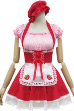 Load image into Gallery viewer, Lolita Miss Pinky Strawberry Maid Dress with Apron SP153692 - SpreePicky  - 3