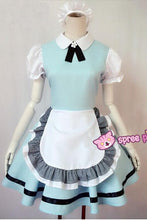 Load image into Gallery viewer, M/L Pastel Blue Lolita Maid Dress Cosplay Costume SP153557 - SpreePicky  - 3