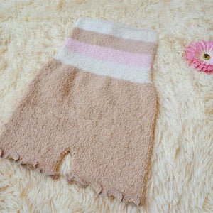 Pastel Fleece High Waist Warming Shorts SP164918 - SpreePicky  - 4
