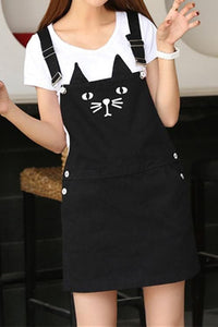 S-3XL Black Cutie Neko Kitty Cat Suspender Dress SP153320 - SpreePicky  - 3