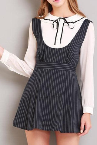 S/M/L Black Stripes Sleeveless Dress SP154285 - SpreePicky  - 3