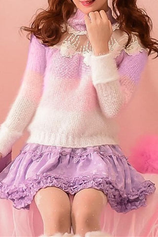 S/M/L Floral Candy Sweater SP153619 - SpreePicky  - 3