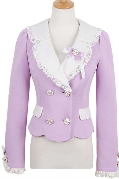 S/M/L Purple Elegant Coat SP153620 - SpreePicky  - 9