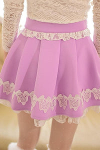 S/M/L Purple Elegant Skirt SP153621 - SpreePicky  - 3