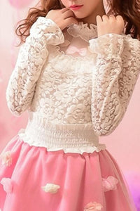 S/M/L Sweet Lace Bottoming Shirt Blouse SP153614 - SpreePicky  - 3