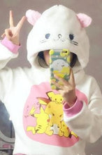 Load image into Gallery viewer, White/Black Cutie Kitty Hoodie Hat SP154278 - SpreePicky  - 3