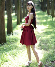 Load image into Gallery viewer, Sweet Burgundy Short Prom Dress, Cute Homecoming Dress - DelaFur Wholesale