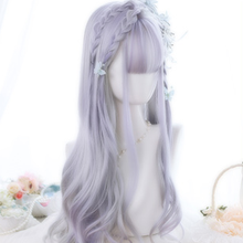 Load image into Gallery viewer, Lolita Bleach Purple Large Waves Long Curly Hair SS0470