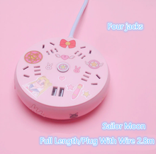 Load image into Gallery viewer, Lovely Multi Function Round USB Sailor Moon Socket Junction Board SS0618
