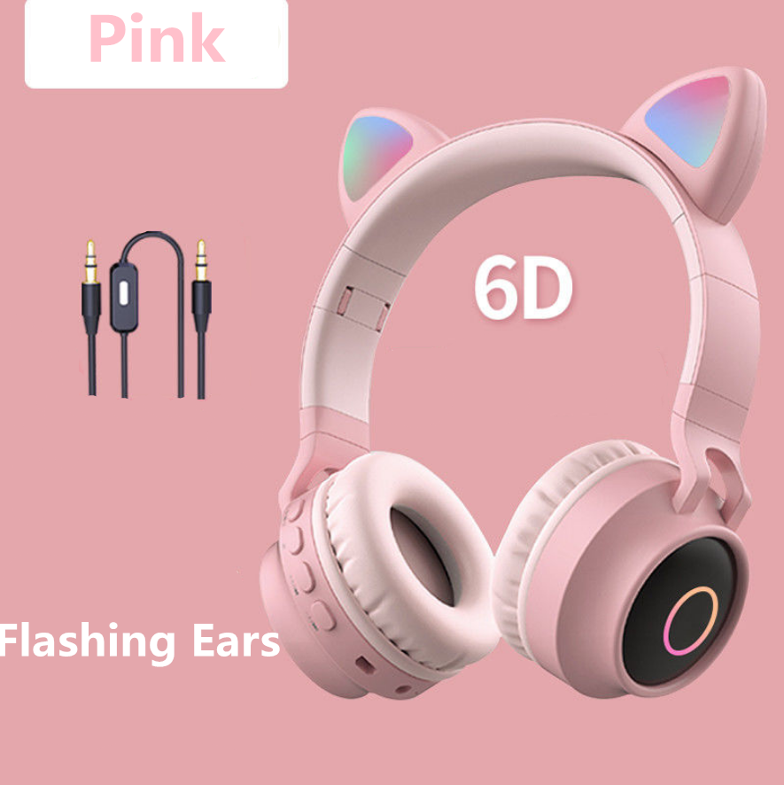 5 Colors of Glowing Cat Ear Wireless Bluetooth Headset SP15126