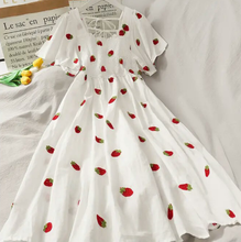 Load image into Gallery viewer, Kawaii Embroidery Strawberry/Pineapple Dress SP14999
