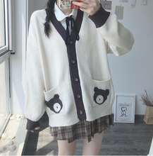 Load image into Gallery viewer, JK Bear Sweater Cardigan SP15309