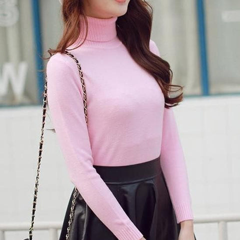 5 Colors Turtleneck Sweater SP152605 - SpreePicky  - 1