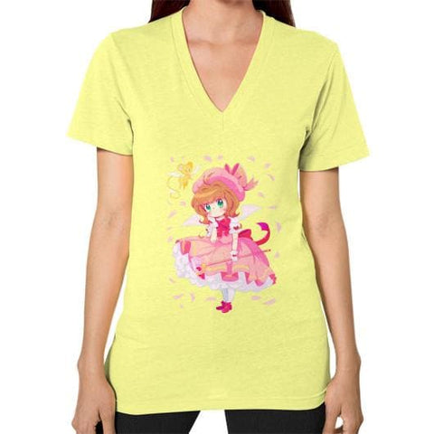 Wonderful Sakura V-Neck Woman Tee Shirt - SpreePicky  - 7