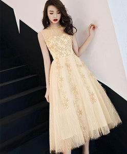 Cute Round Neck Tulle Short  Prom Dress, Homecoming Dress - DelaFur Wholesale