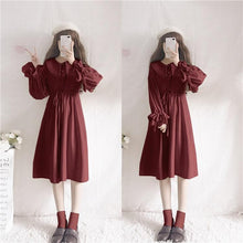 Load image into Gallery viewer, 3 Colors Elegant Falbala Sailor Dress/Poncho SP13271