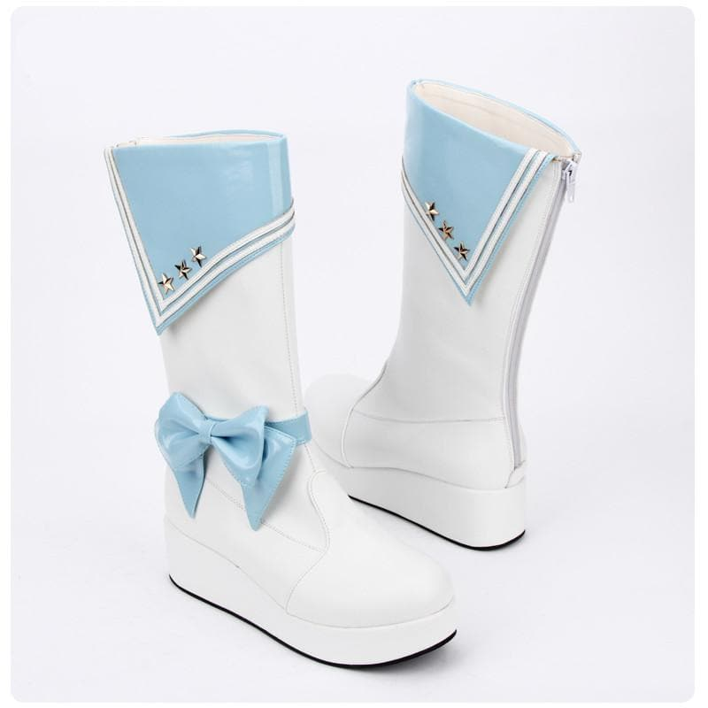 3 Colors Sailor Star Bow High Boots SP14411