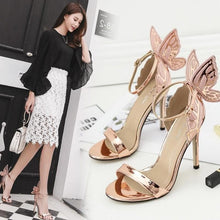 Load image into Gallery viewer, 3 Colors Sweet Butterfly Wings High Heel Sandles SP14065
