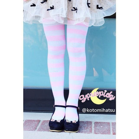 [6 Colors] Cosplay Basic Stripe Thigh High SP130180 - SpreePicky  - 2