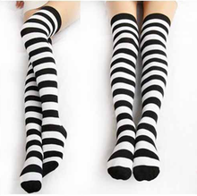 Load image into Gallery viewer, [6 Colors] Cosplay Basic Stripe Thigh High SP130180 - SpreePicky  - 5