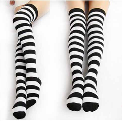 [6 Colors] Cosplay Basic Stripe Thigh High SP130180 - SpreePicky  - 5