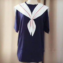 Load image into Gallery viewer, White/Navy Sailor Loose Dress SP152498 - SpreePicky FreeShipping