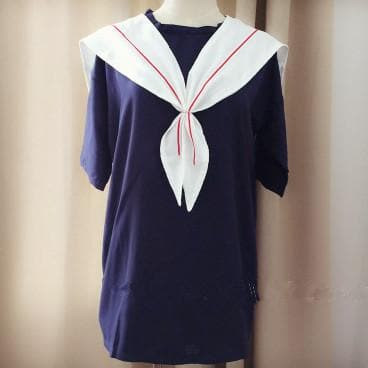 White/Navy Sailor Loose Dress SP152498 - SpreePicky  - 2