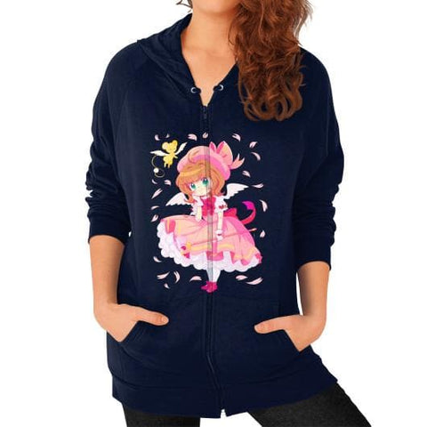 Wonderful Sakura Zip Hoodie (on woman) - SpreePicky  - 6