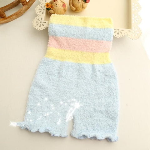 Pastel Fleece High Waist Warming Shorts SP164918 - SpreePicky  - 5
