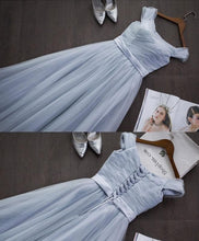 Load image into Gallery viewer, Simple A Line Tulle Long Prom Dress, Cheap Evening Dress - DelaFur Wholesale