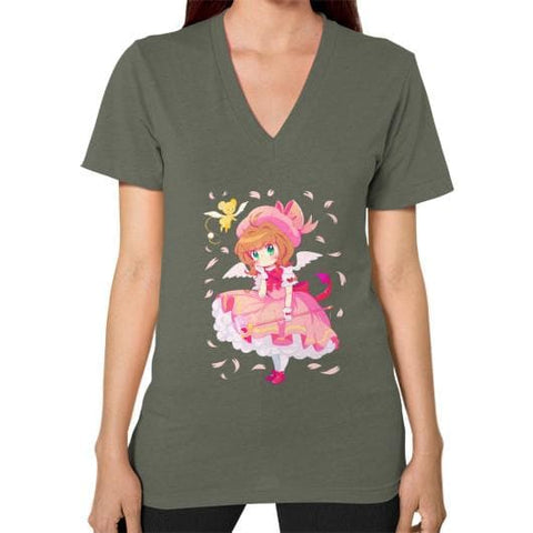Wonderful Sakura V-Neck Woman Tee Shirt - SpreePicky  - 8