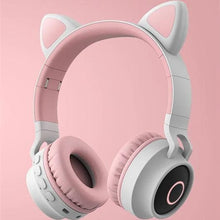 Load image into Gallery viewer, 5 Colors of Glowing Cat Ear Wireless Bluetooth Headset SP15126