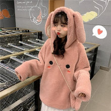 Load image into Gallery viewer, Kawaii Bunny Ear Hoodie Pullover SS0594