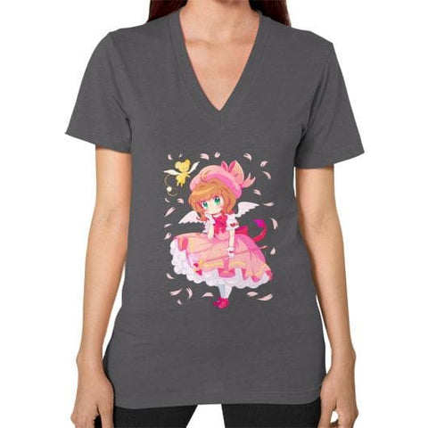Wonderful Sakura V-Neck Woman Tee Shirt - SpreePicky  - 3