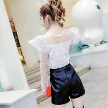 Load image into Gallery viewer, 4 Colors Fairy Spot Lace Shirt SP13504