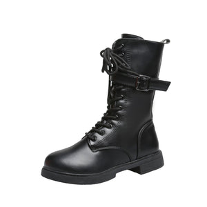 4 Colors Gothic Buckle Laced Martin Boots SP14275